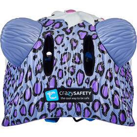 Crazy Safety Leopard Casque Fille, purple